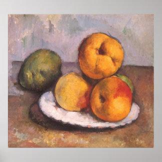 Todavía vida con el membrillo, manzanas, peras por impresiones