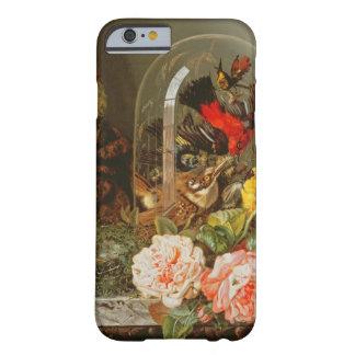 Todavía vida con el pájaro del tarareo en una funda barely there iPhone 6