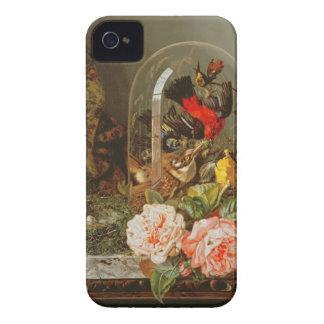 Todavía vida con el pájaro del tarareo en una funda para iPhone 4 de Case-Mate