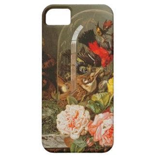 Todavía vida con el pájaro del tarareo en una funda para iPhone SE/5/5s