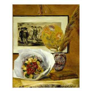 Todavía vida con el ramo de Pierre-Auguste Renoir Fotografia