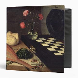"""Todavía vida con el tablero de ajedrez, 1630 carpeta 1 1/2"""""""