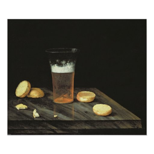Todavía vida con el vidrio de cerveza poster