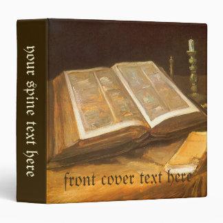 """Todavía vida con la biblia de Vincent van Gogh Carpeta 1 1/2"""""""