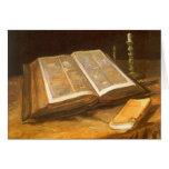 Todavía vida con la biblia, Vincent van Gogh, navi Felicitacion