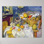 Todavía vida con la cesta de fruta de Paul Cezanne Posters