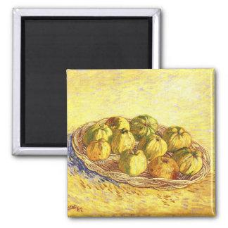 Todavía vida con la cesta de la manzana de Van Gog Iman
