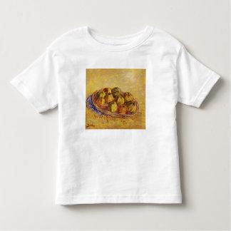 Todavía vida con la cesta de manzanas de Van Gogh Polera