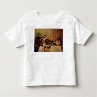 Todavía vida con la empanada de la fruta, 1635 camisas