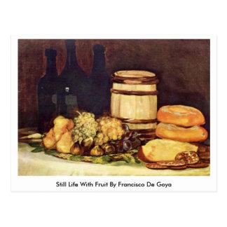 Todavía vida con la fruta de Francisco De Goya Tarjetas Postales
