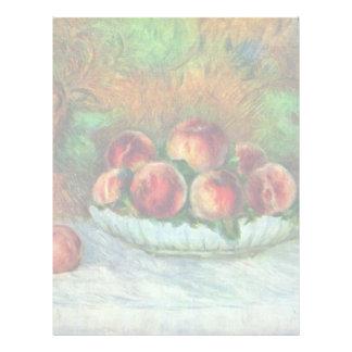Todavía vida con la fruta de Pierre-Auguste Renoir Plantilla De Membrete