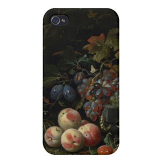 Todavía vida con la fruta, el follaje y los insect iPhone 4/4S fundas