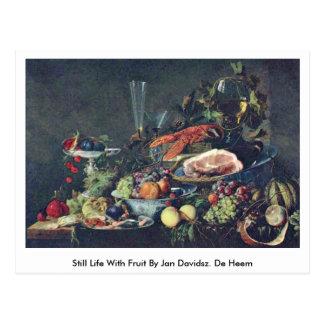 Todavía vida con la fruta en enero Davidsz. De Hee Tarjetas Postales