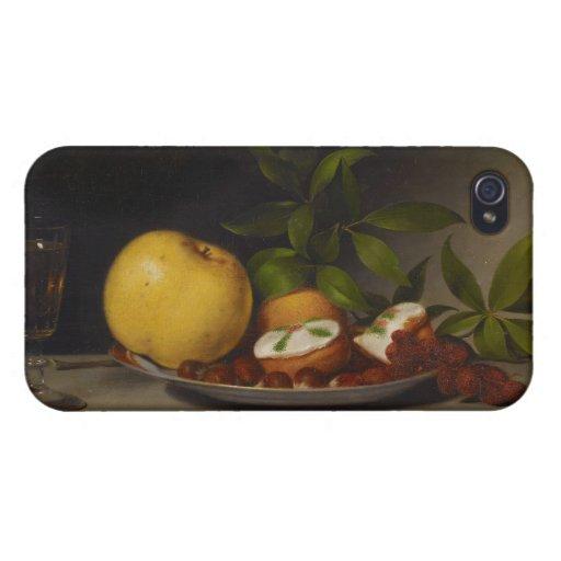 Todavía vida con la fruta, las tortas y el vino, 1 iPhone 4 funda
