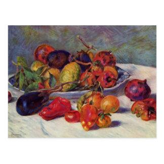 Todavía vida con la fruta - Pierre-Auguste Renoir Tarjetas Postales