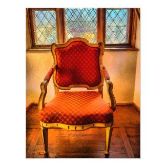 Todavía vida con la silla fotografia