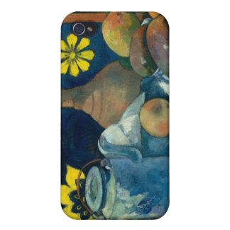 Todavía vida con la tetera y la fruta - Paul Gaugu iPhone 4/4S Carcasa