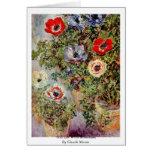 Todavía vida con las anémonas de Claude Monet Felicitacion