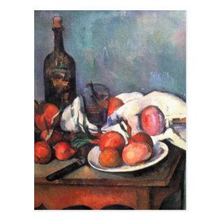 Todavía vida con las cebollas - Paul Cézanne Tarjeta Postal