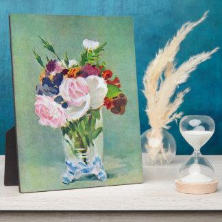 Todavía vida con las flores de Eduardo Manet Placas Con Foto