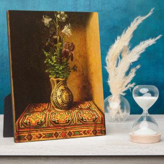 Todavía vida con las flores de Hans Memling Placa Para Mostrar