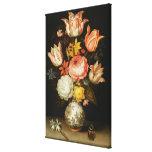 Todavía vida con las flores lona estirada galerías
