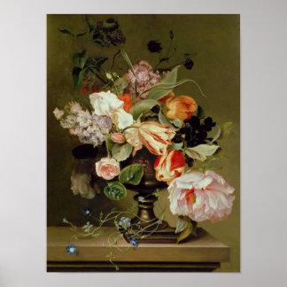 Todavía vida con las flores posters