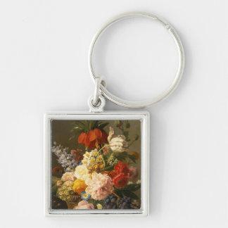 Todavía vida con las flores y la fruta, 1827 llaveros personalizados