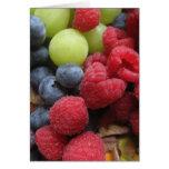 Todavía vida con las frutas felicitación