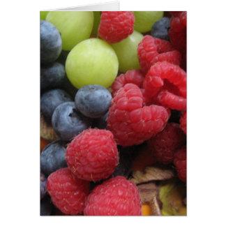 Todavía vida con las frutas tarjeta de felicitación