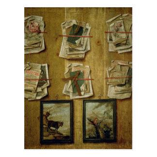 Todavía vida con las hojas y las imágenes, 1783 postales