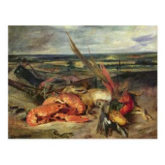 Todavía vida con las langostas, 1826-27 postales