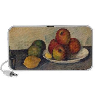 Todavía vida con las manzanas c 1890 altavoces