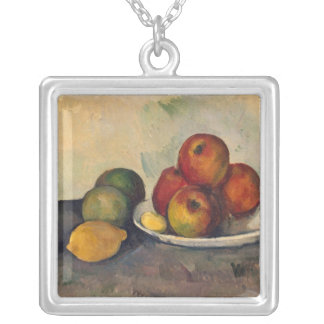 Todavía vida con las manzanas c 1890 collares personalizados