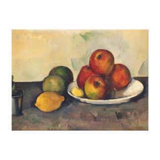 Todavía vida con las manzanas c 1890 lona estirada galerías