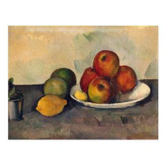 Todavía vida con las manzanas c 1890 tarjetas postales