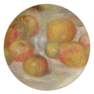 Todavía vida con las manzanas, c.1898 (aceite en l platos de comidas