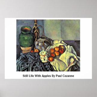 Todavía vida con las manzanas de Paul Cezanne Posters