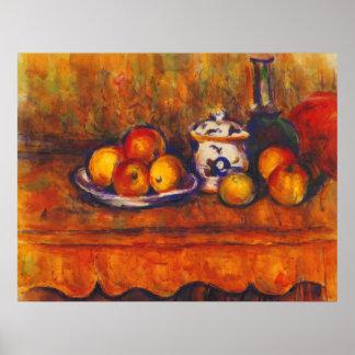 Todavía vida con las manzanas de Paul Cezanne Poster