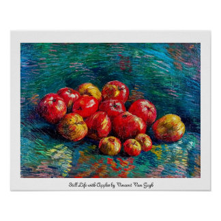 Todavía vida con las manzanas de Vincent van Gogh Poster