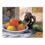 Todavía vida con las manzanas, las peras y Krug po Postal