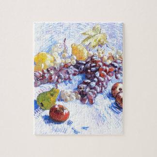 Todavía vida con las manzanas, peras, uvas - Van Puzzle