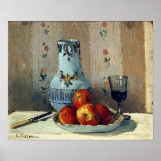 Todavía vida con las manzanas y la jarra - Pissarr Posters