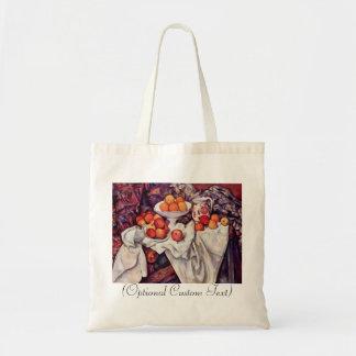 Todavía vida con las manzanas y los naranjas bolsa tela barata