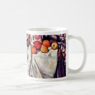 Todavía vida con las manzanas y los naranjas de Pa Tazas De Café