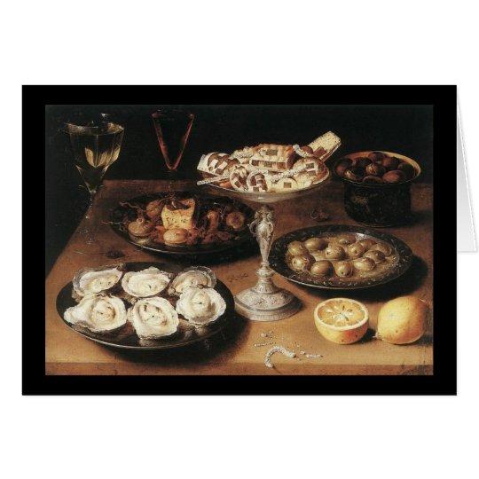 Todavía vida con las ostras - Osias Beert Tarjeta De Felicitación