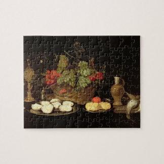 Todavía vida con las ostras puzzles