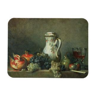 Todavía vida con las uvas y las granadas, 1763 (ac iman flexible