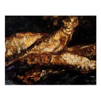 Todavía vida con los arenques ahumados de Van Gogh Postales