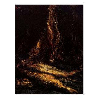 Todavía vida con los arenques ahumados de Van Gogh Tarjetas Postales
